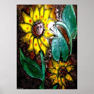 Enamel Wall Flower 1 Poster