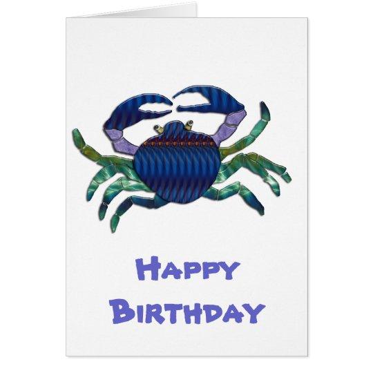 Enameled Blue Crab Card