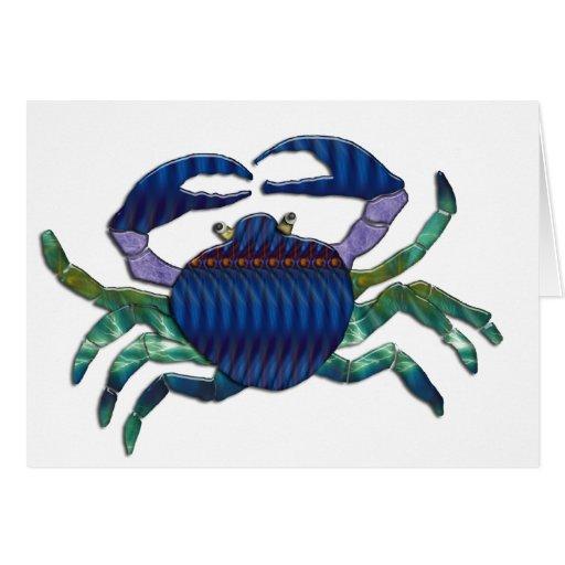 Enameled Blue Crab Greeting Card