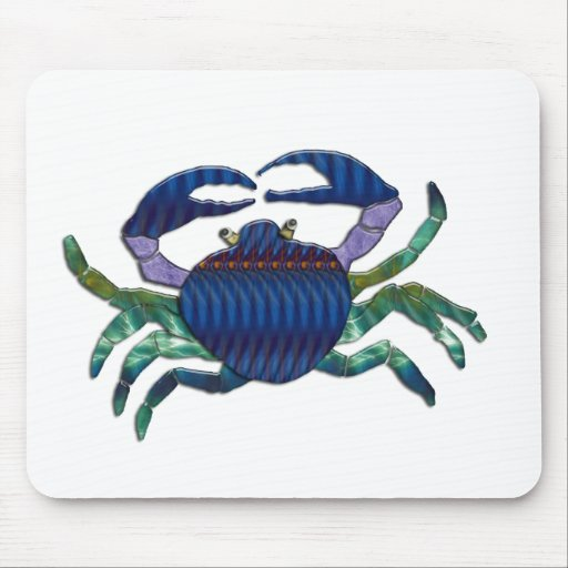 Enameled Blue Crab Mouse Pad