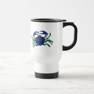 Enameled Blue Crab Mug
