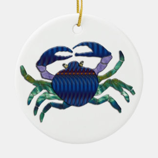 Enameled Blue Crab Ornaments