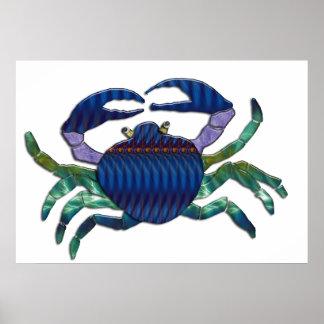 Enameled Blue Crab Poster