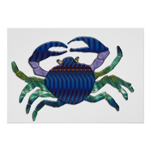 Enameled Blue Crab Posters