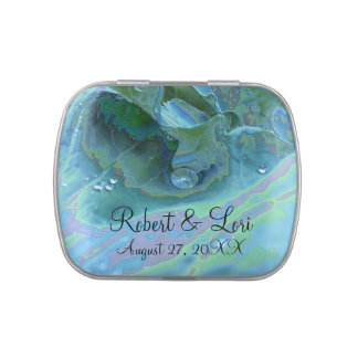 Enameled Dew Drop Favors Jelly Belly Tins