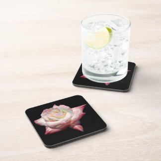 """Enameled"" effect pastels rose Beverage Coasters"