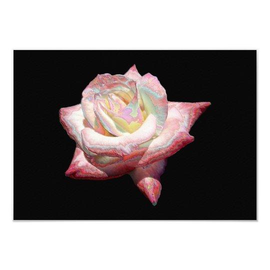 """""""Enameled"""" effect pastels rose Card"""