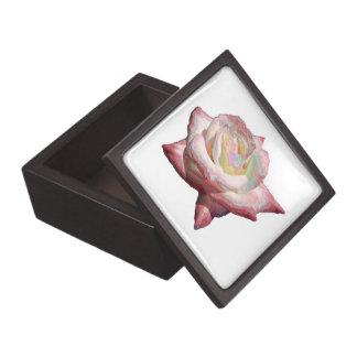 """Enameled"" effect pastels rose Premium Trinket Box"