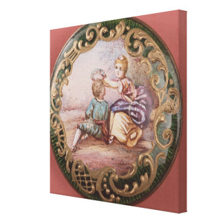 Enamelled and gilt button canvas print