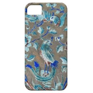 Enamelled Birds Flowers Raised Metal Faux Jewelry iPhone SE/5/5s Case