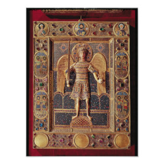 Enamelled plaque depicting the Archangel Michael Poster