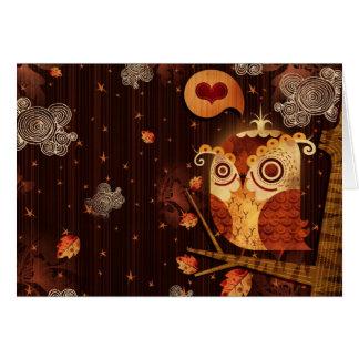 Enamored Owl Card