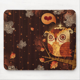 Enamored Owl Mouse Pad