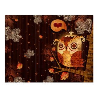 Enamored Owl Postcard