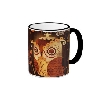 Enamored Owl Ringer Mug