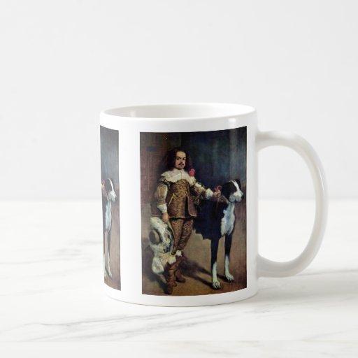 Enano de la corte con un perro de Diego Velázquez Tazas De Café