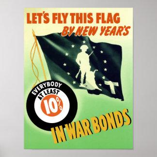 Enarbolemos pabellón este por Años Nuevos -- WW2 Póster