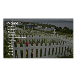 Enarene el cementerio del punto, punto de la arena plantilla de tarjeta de negocio