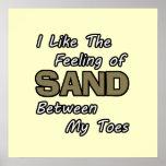 Enarene en poster de los dedos del pie