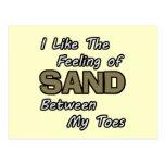 Enarene entre la postal de los dedos del pie
