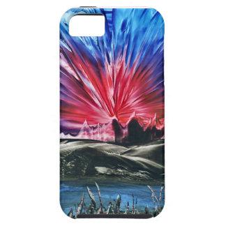 enaustic mountain sunset iphone 5 case