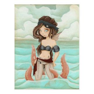 Encadenado al mar - piratee la postal de hadas