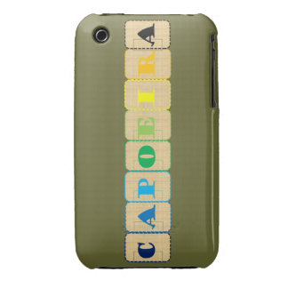 encajone el ginga el Brasil del hacha de los artes iPhone 3 Fundas
