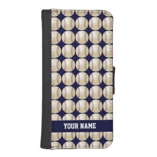 Encajone para el iPhone 5, iPhone 5s, béisbol Fundas Billetera Para Teléfono