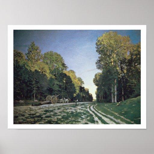 Encamine a de Chailly, Fontainebleau, 1864 (aceite Póster