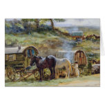 Encampment gitano, Appleby, 1919 Felicitacion