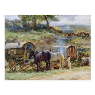 Encampment gitano, Appleby, 1919 Postal