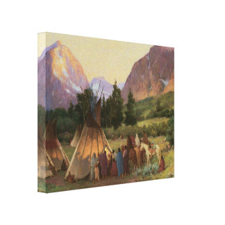 Encampment Montana 1902 Wrapped Canvas