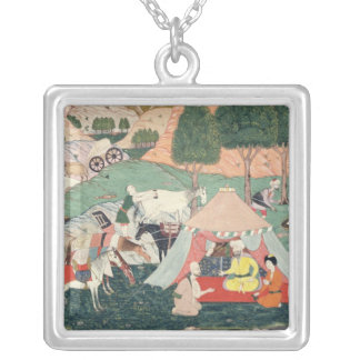 Encampment of a Prince Silver Plated Necklace