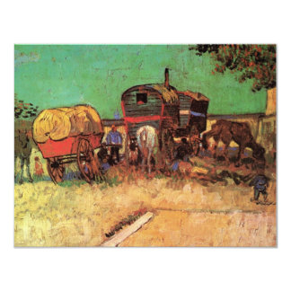 Encampment of Gypsies Caravans by Vincent van Gogh Card