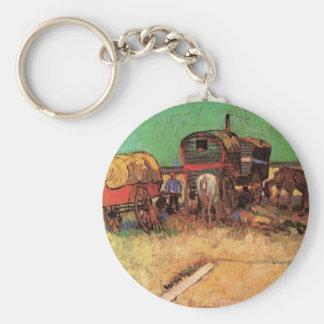Encampment of Gypsies w Caravans; Vincent van Gogh Keychains
