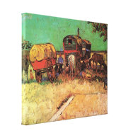 Encampment of Gypsies with Caravans Stretched Canvas Print