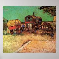 Encampment of Gypsies with Caravans Poster
