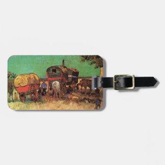 Encampment of Gypsies with Caravans, Van Gogh Luggage Tag