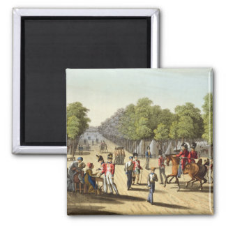 Encampment of the British Army in the Bois de Boul 2 Inch Square Magnet