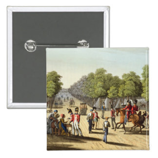 Encampment of the British Army in the Bois de Boul 2 Inch Square Button