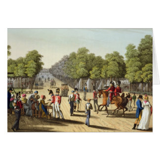 Encampment of the British Army in the Bois de Boul Card