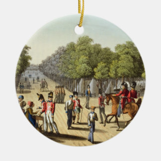 Encampment of the British Army in the Bois de Boul Ceramic Ornament