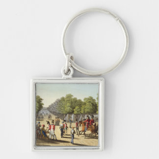 Encampment of the British Army in the Bois de Boul Keychain