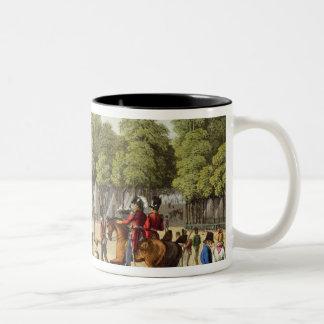 Encampment of the British Army in the Bois de Boul Two-Tone Coffee Mug