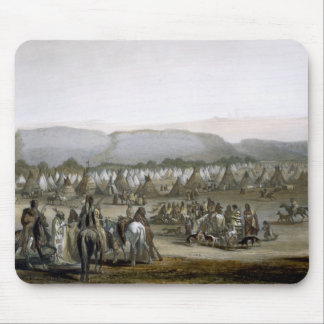 Encampment of the Piekann Indians, plate 43 from V Mouse Pad