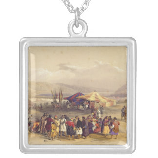 Encampment of the Pilgrims at Jericho' Volume II Silver Plated Necklace