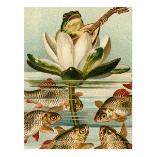 Encantador de los pescados tarjetas postales