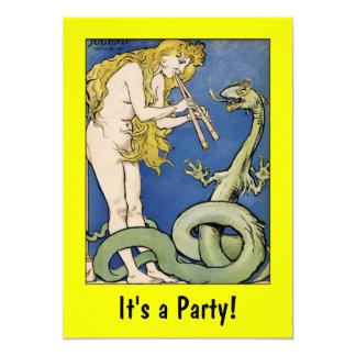Encantador de serpiente - arte Nouveau: Invitación