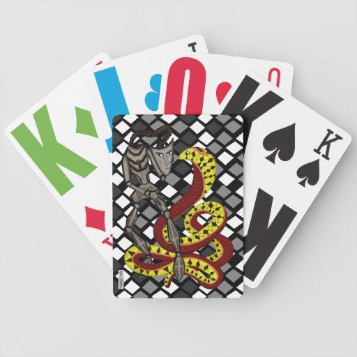 Encantador de serpiente (la serpiente y el robot) barajas de cartas