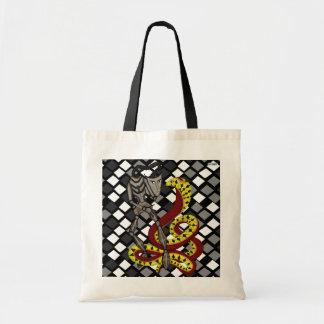 Encantador de serpiente la serpiente y el robot bolsas lienzo